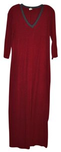Red with Grey Trim Maxi Dress by Po 100%cotton Machine Washable