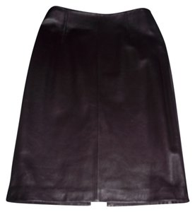 Siena Studio Pencil Holiday Skirt Brown Leather