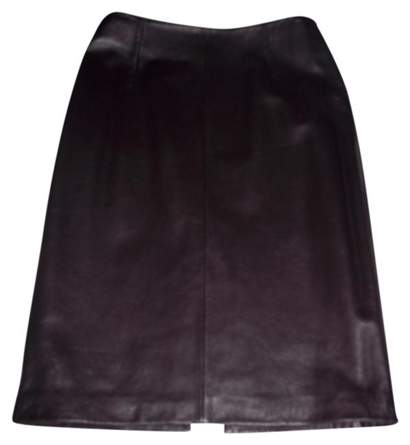 Item - Brown Leather Pencil Holiday Skirt Size 6 (S, 28)