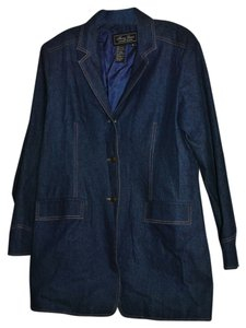 Terry Lewis Classic Luxuries 100%cotton Lining 100%polyester Machine Wash Cold Dark Denim Jacket
