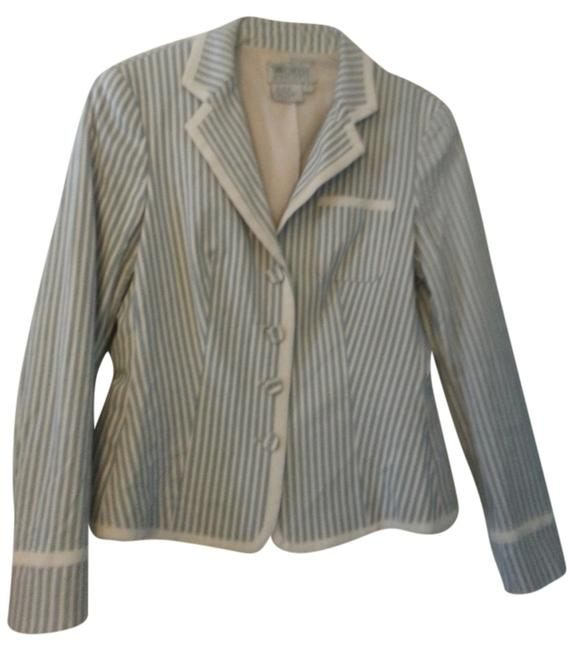 Worth Light Blue and Cream stripe Blazer