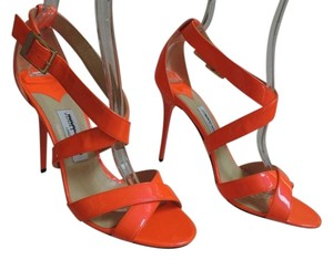 Jimmy Choo Neon Lottie Opentoe NEON ORANGE Sandals