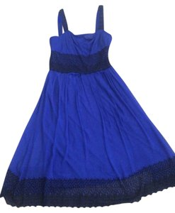 Mixit short dress Royal Blue with Black Eyelet Accents on Tradesy