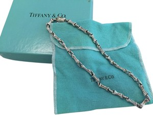 Tiffany & Co. Tiffany & Co Silver Nature Bamboo Link Necklace