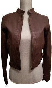 True Religion Sheepskin Brown Leather Jacket