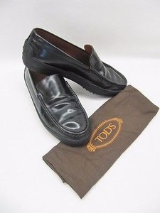 Tod's Tods Leather Slip On Black Flats