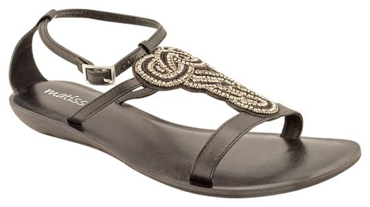 Matisse Infinity Wedge Pave Crystals Black Sandals