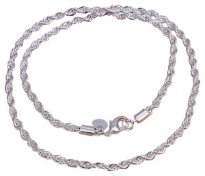 Sterling Silver Diamond Cut Rope Chain Necklace, 3mm, 4.6 gms.