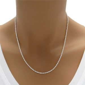 Sears Sterling Silver Diamond Cut Rope Chain Necklace, 3mm, 5.3 gms.