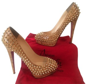Christian Louboutin 9 9.5 Platform Spike Cork Pumps