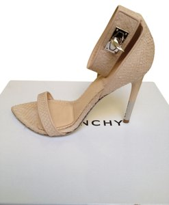 Givenchy Shark-lock Python Wedding Silver Heels Engagement Powder Sandals