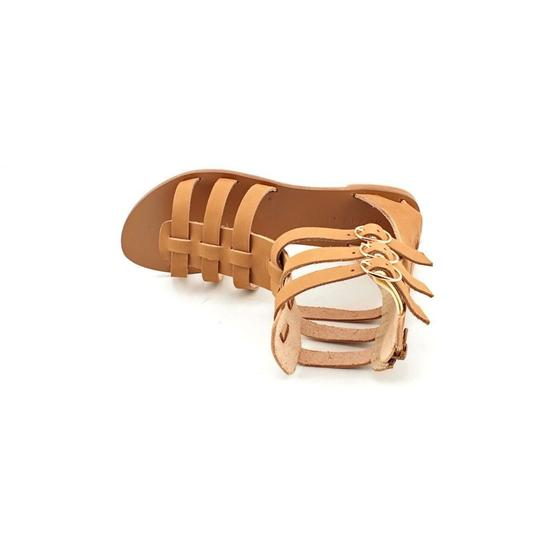 ALL BLACK Cleopatra Gladiator Summer Festival Beige Sandals