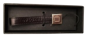 BVLGARI Black BVLGARI Leather cell phone Strap/holder