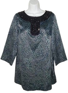 Michael by Michael Kors Satin Geometric Beaded Tunic