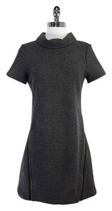 Theory short dress Gray Wool Blend Zipper on Tradesy