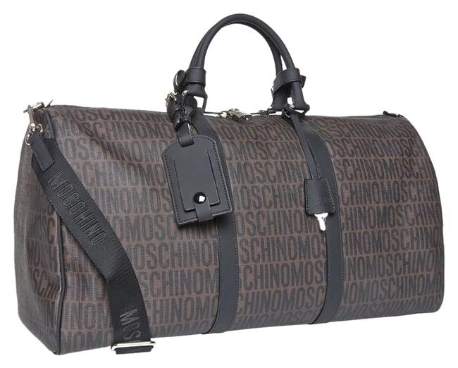 Item - Logo Print Brown Coated Canvas Trimmed with Rubberized Leather Weekend/Travel Bag