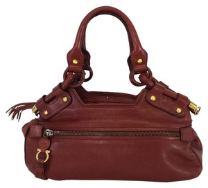 Salvatore Ferragamo Rust Pebbled Leather Shoulder Bag