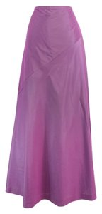 Giorgio Armani Purple Silk Blend Maxi Maxi Skirt
