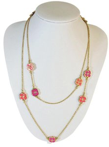 Kate Spade Perfectly Pink Kate Spade Flutter Floral Necklace NWT Long Scatter Necklace - Great to Wrap - Beautiful!