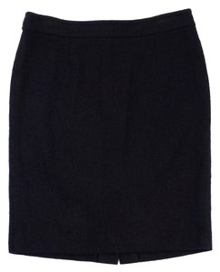 Saint Laurent Black Cotton Skirt