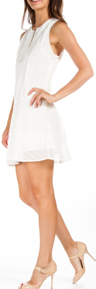 Twelfth St By Cynthia Vincent White Xs Summer Summer Lace Wedding Street Mid Length Short Casual Dress Size Petite 2 Xs