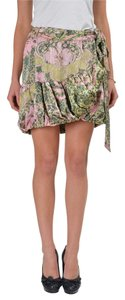 Just Cavalli Mini Skirt Green/Pink/Beige