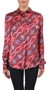 Just Cavalli Button Down Shirt Red/Pink/Orange/Black