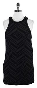 Alexander Wang short dress Black Grey Print Wool Sleeveless on Tradesy