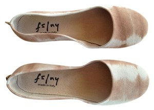 French Sole Nude/Brown Italian Flats