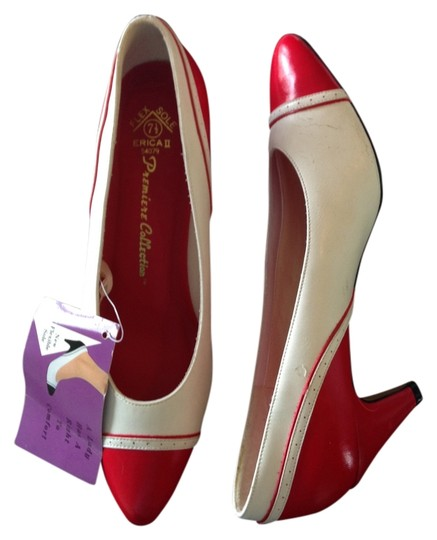 Flex Sole Spectator Vintage Red Leather Red/White Pumps