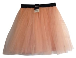 Miss Selfridge Mini Skirt Peach black band