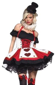 Leg Avenue Halloween Costume Queen Of Hearts Party Cocktail Plus Size 3x 2x 22 24 26 28 Dress