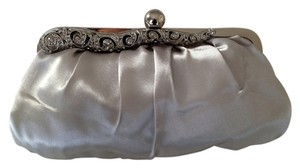 Target Wristlet Formal Silver with Silver Metal Accent Clutch