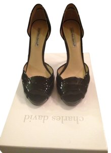 Charles David Black Patent Pumps