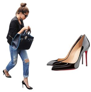 Christian Louboutin Stiletto Red Sole Patent Leather Corneille So Kate 41 11 Heel Black Pumps