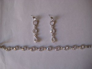 Swarovski And Crystal Earrings And Bracelet