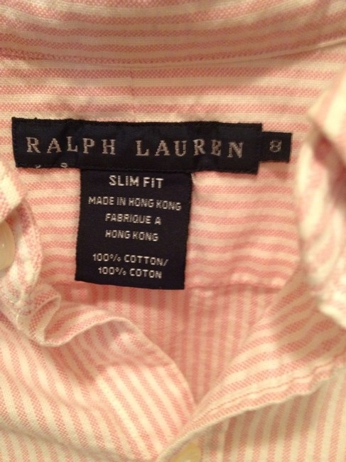 Ralph Lauren Classic Classic Preppy Button Down Shirt Pink