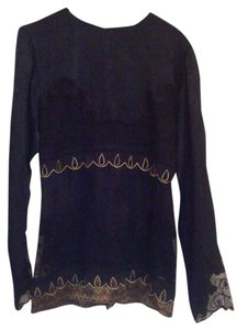Nataya Top Black and gold