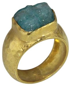 Omer Men's Gold Rough Apatite Ring