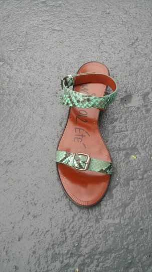 Lanvin green and black Sandals