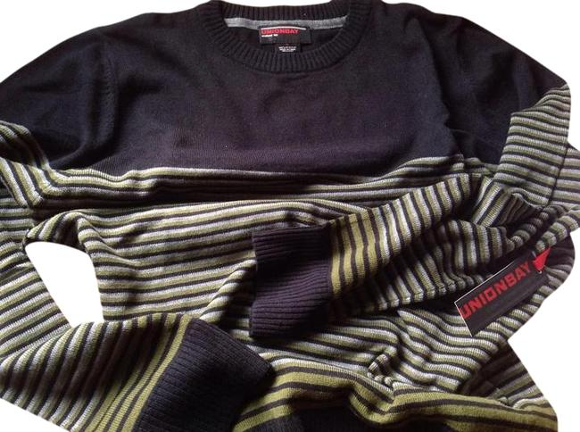 Item - Black Green and Grey Stripes Sweater