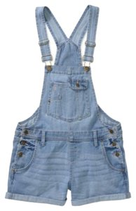 L.E.I. Shortalls Shorts Light Wash Denim