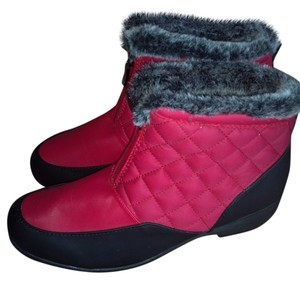 Weatherproof Red Boots