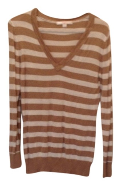 Item - Strip Striped Nautical White Beige Sweater