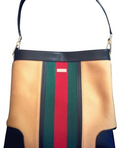 Gucci Red Green Beige Tan Hobo Bag