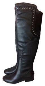 Betsey Johnson Black with studs around the top Boots