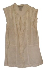 Banana Republic Ruf Ruffle Top Cream