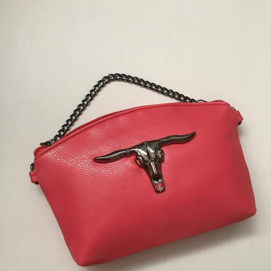 Private Edgy Gunmetal Ox Skull pink Clutch Image 2