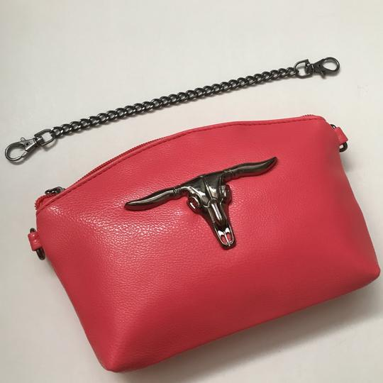 Private Edgy Gunmetal Ox Skull pink Clutch Image 4