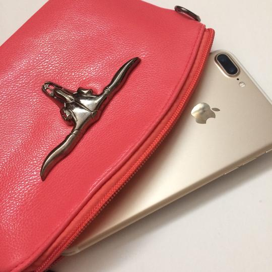 Private Edgy Gunmetal Ox Skull pink Clutch Image 7